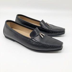 Salvatore Ferragamo Black Pointed Toe Loafers